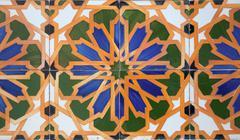 Portuguese glazed tiles. Stock Photos