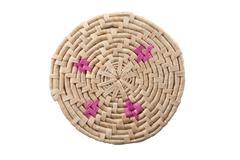 Stock Photo of round handmade colored mat