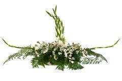 white flowers arrangement - stock photo