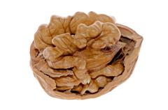 crack walnut - stock photo