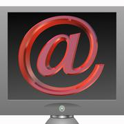 Email sign in red on montor Stock Illustration