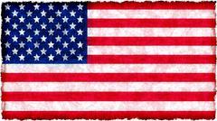 Flag of united states of america on grunge Stock Illustration