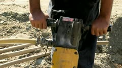 Jackhammer Close-Up 04 Stock Footage