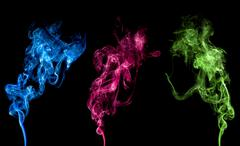 abstract colorful smoke - stock photo