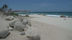 Shoreline in Los Cabos Mexico Stock Footage