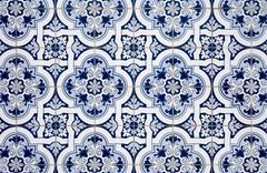 blue pattern detail - stock photo