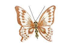 Butterfly christmas tree ornament Stock Photos