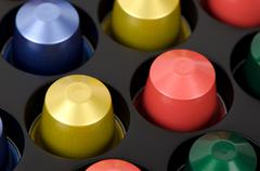 Coffee capsules Stock Photos