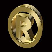 Registration mark symbol Stock Illustration