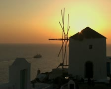 A windmill in Mykonos Stock Footage