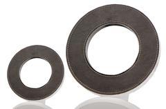 round leather frames - stock photo