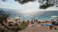 Stock Video Footage of Famous beach in Croatia