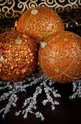 Stock Photo of christmas ball baubles