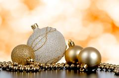 christmas ball baubles - stock photo