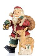 Stock Photo of ceramic santa claus