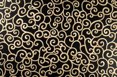 golden abstract arabesque - stock photo