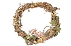 Stock Photo of wreath made with straw