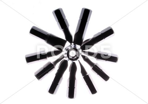 Stock Illustration of set of tools