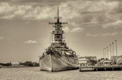 battleship missouri - stock photo