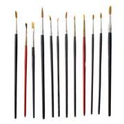used art brushes - stock photo