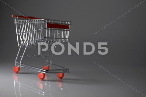 Stock photo of shopping wagon cart