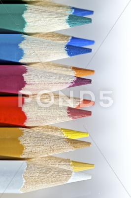 Stock photo of color pencil palette