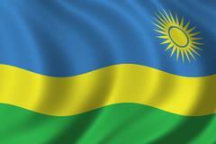 Flag of Rwanda - stock illustration