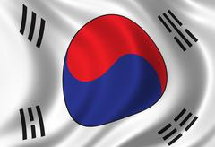 Flag of South Korea Stock Illustration