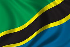 Flag of Tanzania - stock illustration