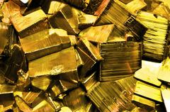 Pyrite fool's gold Stock Photos