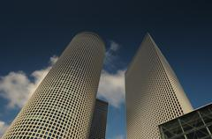 Office building towers - stock photo