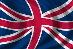 Flag of Great Britain - stock illustration