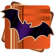 Halloween Bat Stock Illustration