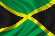 Flag of Jamaica Stock Illustration