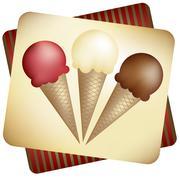 Ice Cream Cones - stock illustration
