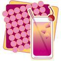 Shirley Temple Drink Stock Illustration