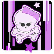 Girly Skull & Crossbones Illustration Stock Illustration