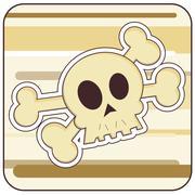 Skull & Crossbones Illustration - stock illustration