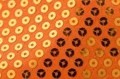 orange paillette background - stock photo