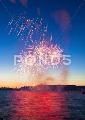 Stock photo of firework