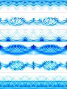 Blue ink borders Stock Photos