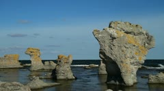 Rauks in the Baltic sea Stock Footage