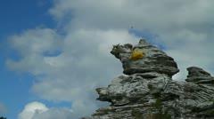 Hoburgsgubben (the Hoburg man) seastack Stock Footage
