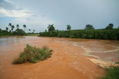 Mud floods - stock photo