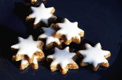 Star shaped cookies Stock Photos