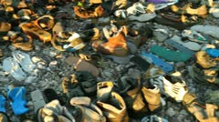 Art installation with shoes Stock Footage