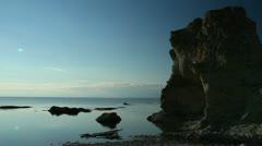 Rauk sea cave Stock Footage
