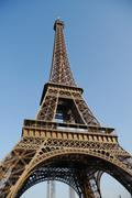 Eiffel tower low angle Stock Photos