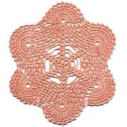 Hand made crocheted doily Stock Photos