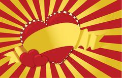 yellow ribbon heart - stock photo